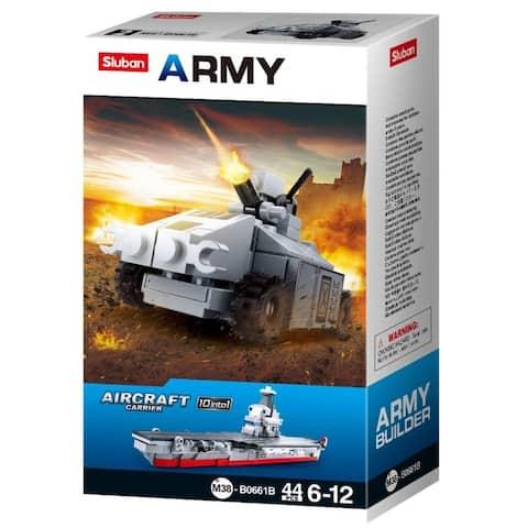 Sluban Kids Army Fighter Jet Tank Building Blocks 44 Pcs SLU08637