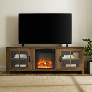 "70"" Fireplace TV Stand Console - 70 x 16 x 24h"