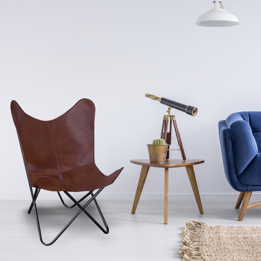 Brown, Leather Living Room Chairs | Shop Online at Overstock