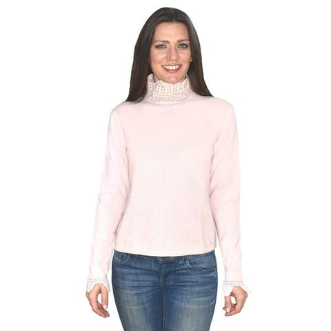 Cashmere Crochet High Neck