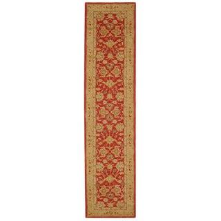 Safavieh Handmade Anatolia Oriental Red/ Ivory Hand-spun Wool Runner (2'3 x 12')