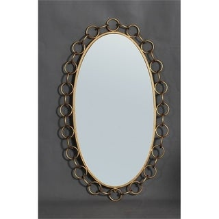 Tyne Chain Link Gold Oval Wall Mirror