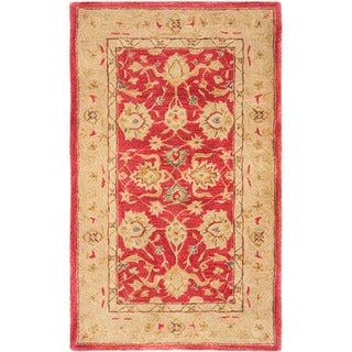 Safavieh Handmade Anatolia Oriental Red/ Ivory Hand-spun Wool Rug (3' x 5')