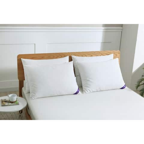 St. James Home Cotton Silver Duck Feather Pillows (Set of 4) - White