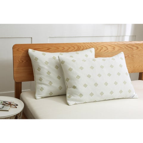 St. James Home Bamboo Fusion with Balance Fill Pillow - White