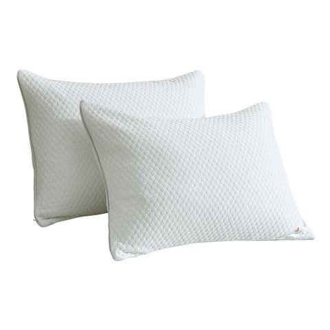St. James Home Cool Knit with Balance Fill Pillow - White