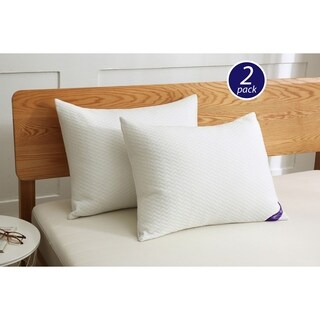 St. James Home Soft Knit Silver Duck Nano Feather Pillows (Set of 2) - White
