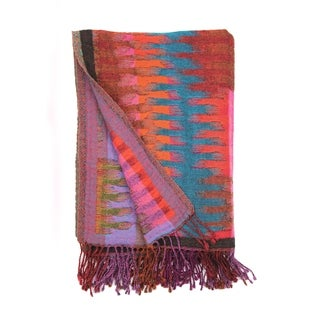 Bohemian Wool Collection Yarn Dyed Ikat winbow Throws