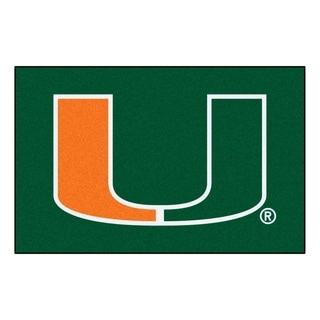 """FANMATS University of Miami 19 in. x 30 in. Starter Mat Area Rug - 1'7"""" x 2'6"""""""