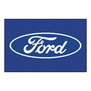 "FANMATS Ford - Ford Oval 19 in. x 30 in. Starter Mat Area Rug - 1'7"" x 2'6"""