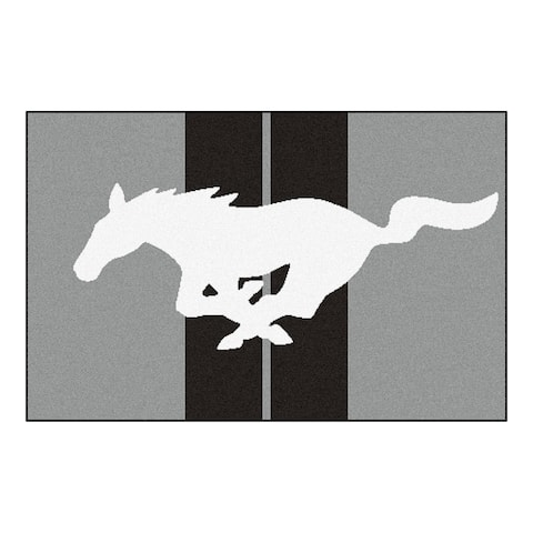 """FANMATS Ford - Mustang Horse 19 in. x 30 in. Starter Mat Area Rug - 1'7"""" x 2'6"""""""
