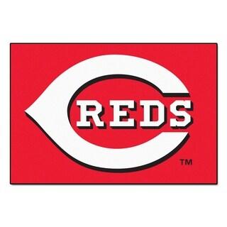 "FANMATS MLB - Cincinnati Reds 19 in. x 30 in. Starter Mat Area Rug - 1'7"" x 2'6"""