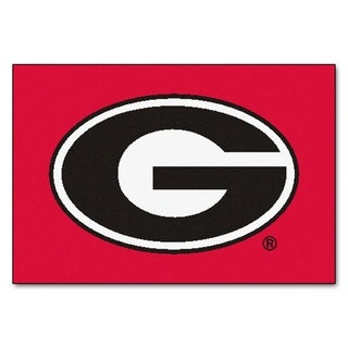 "FANMATS University of Georgia 19 in. x 30 in. Starter Mat Area Rug - 1'7"" x 2'6"""
