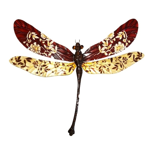 Handmade Floral Rust Dragonfly (Philippines)