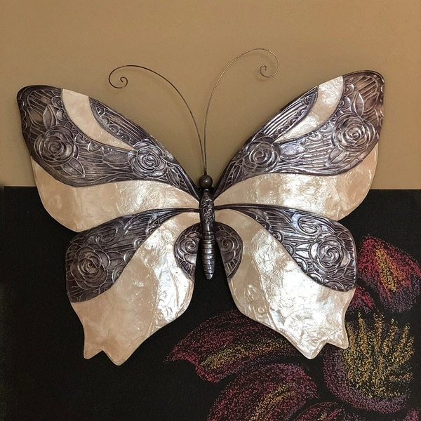 Handmade Pewter and Pearl Butterfly (Philippines)
