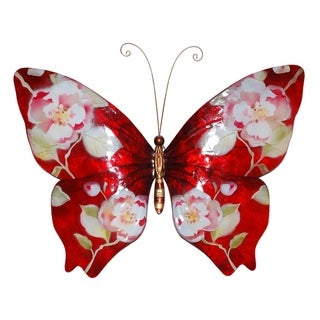Handmade Red Butterfly with Flowers Decor (Philippines)