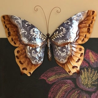 Handmade Copper with Dark Accent Butterfly (Philippines)
