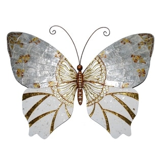 Butterfly Wall Decor Silver With Gold
