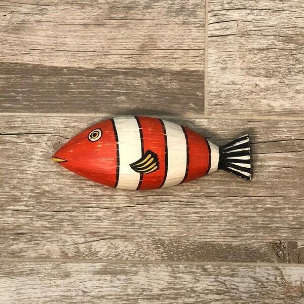 Handmade Orange Striped Fish (Philippines)