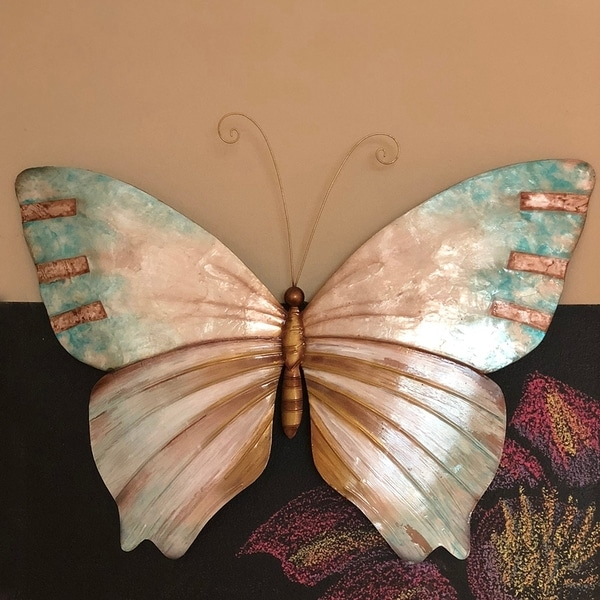 Handmade Pearl and Soft Aqua Butterfly (Philippines)