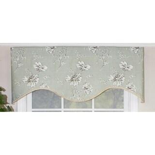 "RLF Home Desert Flower Mist Cornice 50 Inch Window Valance - 50"" w x 17"" l"