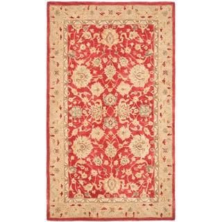 Safavieh Anatolia Handmade Red / Ivory Wool Rug (5' x 8')