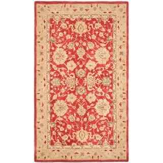Safavieh Handmade Anatolia Oriental Red/ Ivory Hand-spun Wool Rug (5' x 8')
