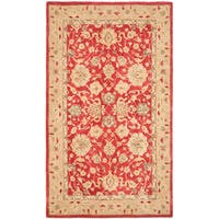 Safavieh Handmade Anatolia Oriental Red/ Ivory Hand-spun Wool Rug - 5' x 8'