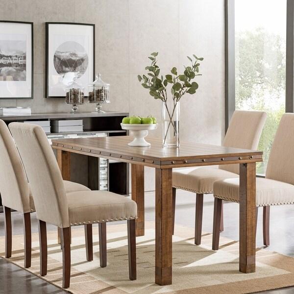 Rustic Kitchen Tables For Sale: Shop Carbon Loft Nicholas Rustic Industrial Dining Table