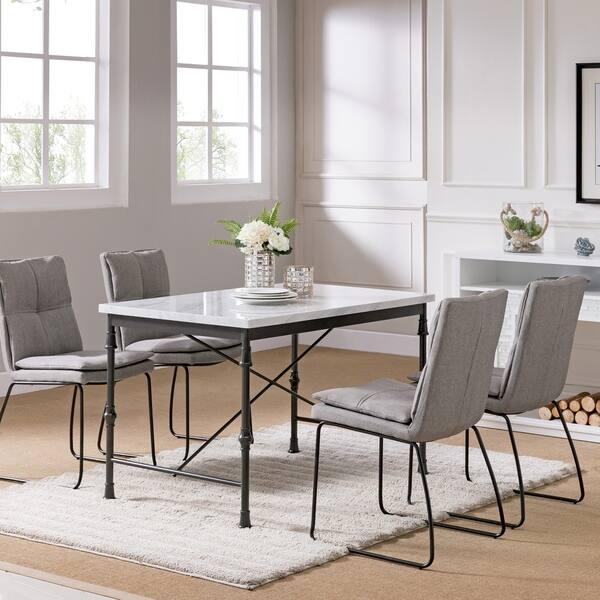 Shop Carbon Loft Ivan Faux Marble Dining Table - Free ...