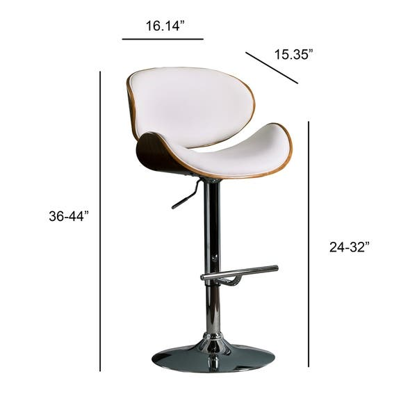Admirable Shop Modern Swivel Walnut Bentwood Adjustable Height Bar Pabps2019 Chair Design Images Pabps2019Com