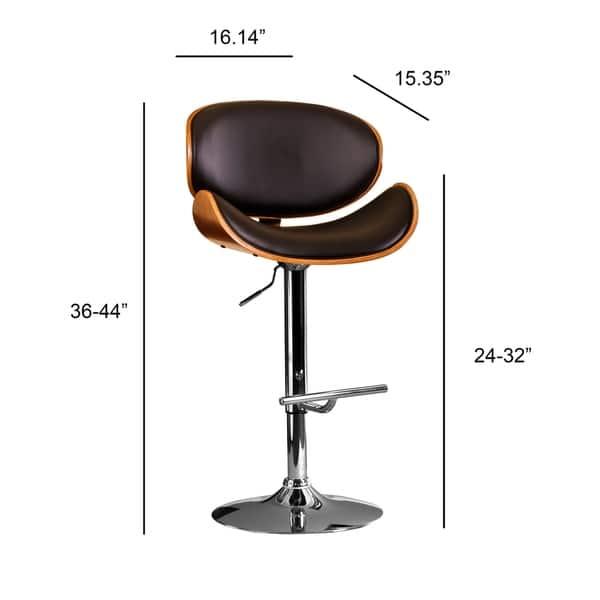 Brilliant Shop Modern Swivel Walnut Bentwood Adjustable Height Bar Pabps2019 Chair Design Images Pabps2019Com