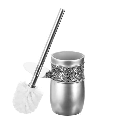 Brushed Nickle Toilet Bowl Brush with Holder