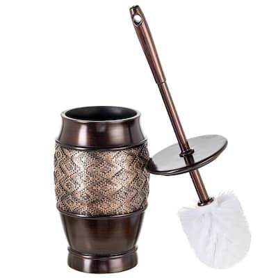 Dublin Toilet Bowl Brush with Holder (Brown)