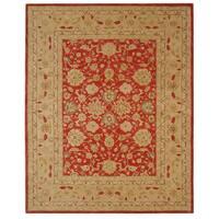 Safavieh Handmade Anatolia Traditional Oriental Red/ Ivory Hand-spun Wool Rug - 8' x 10'