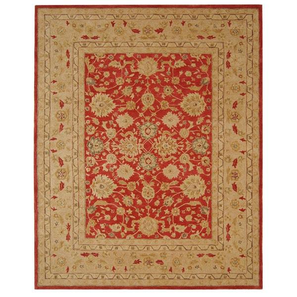 Safavieh Anatolia Handmade Red / Ivory Wool Rug (8' x 10')