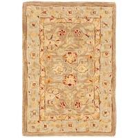 Safavieh Handmade Anatolia Oriental Tan/ Ivory Hand-spun Wool Rug - 2' x 3'