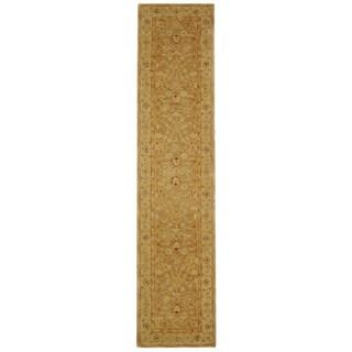 Safavieh Handmade Anatolia Oriental Tan/ Ivory Hand-spun Wool Runner (2'3 x 12')