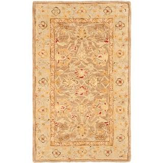 Safavieh Handmade Anatolia Traditional Oriental Tan/ Ivory Hand-spun Wool Rug (3' x 5')