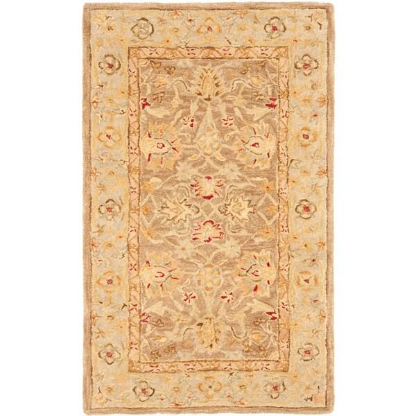 Safavieh Anatolia Handmade Tan / Ivory Wool Rug (3' x 5')