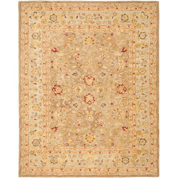 Safavieh Handmade Anatolia Traditional Oriental Tan/ Ivory Hand-spun Wool Rug (9' x 12')