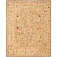 "Safavieh Handmade Anatolia Oriental Tan/ Ivory Hand-spun Wool Rug - 9'6"" x 13'6"""