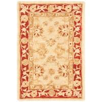 Safavieh Handmade Anatolia Oriental Ivory/ Red Hand-spun Wool Rug - 2' x 3'