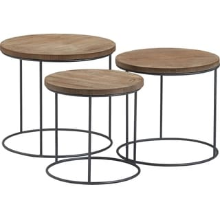 Tommy Hilfiger Berkshire Nesting Side Tables, Set of 3