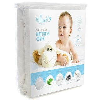 MILLIARD Quilted, Waterproof Crib & Toddler Mattress Protector Pad, 28x52x6