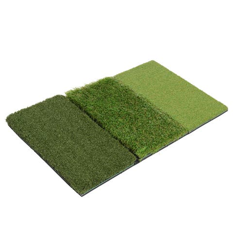 Milliard Golf 3-in-1 Turf Grass Mat Includes Tight Lie, For Driving, Chipping, and Putting Golf practice and Training - 25x16in.