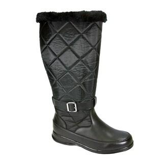 PEERAGE Kendra Women Wide Width Wide Calf Leather & Nylon Winter Boot