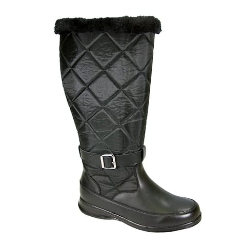 PEERAGE Kendra Women Wide Width Wide Calf Leather & Nylon Winter Boot