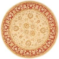 Safavieh Handmade Anatolia Oriental Ivory/ Red Hand-spun Wool Rug - 4' x 4' Round