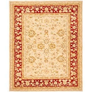 Safavieh Handmade Anatolia Oriental Ivory/ Red Hand-spun Wool Rug (5' x 8')